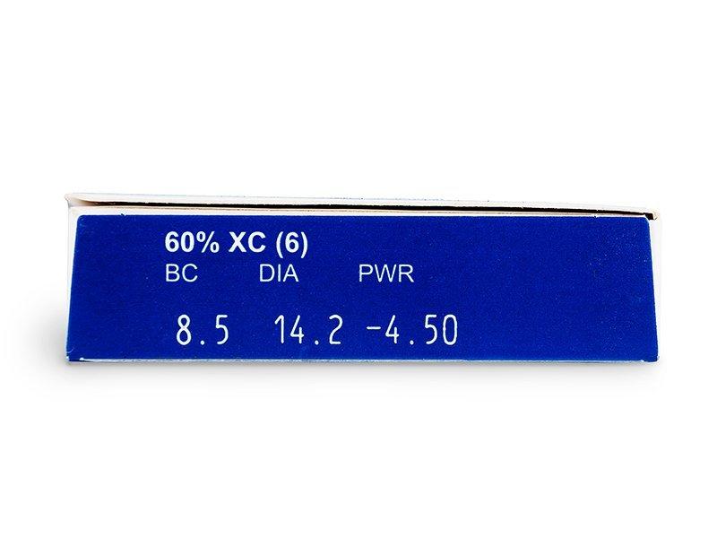 FREQUENCY XC (6čoček) - Náhled parametrů čoček