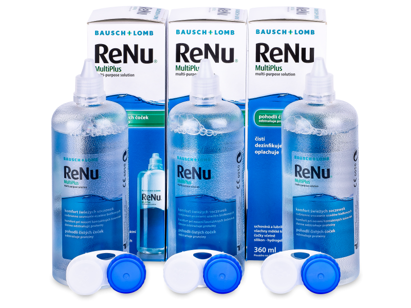 Roztok ReNu MultiPlus 3 x 360 ml
