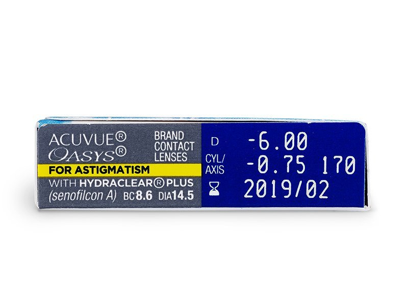 Acuvue Oasys for Astigmatism (6čoček) - Náhled parametrů čoček