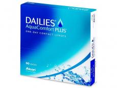 Jednodenní levné kontaktní čočky - Dailies AquaComfort Plus (90čoček)
