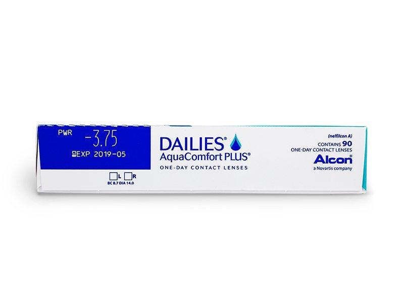 Dailies AquaComfort Plus (90čoček) - Náhled parametrů čoček
