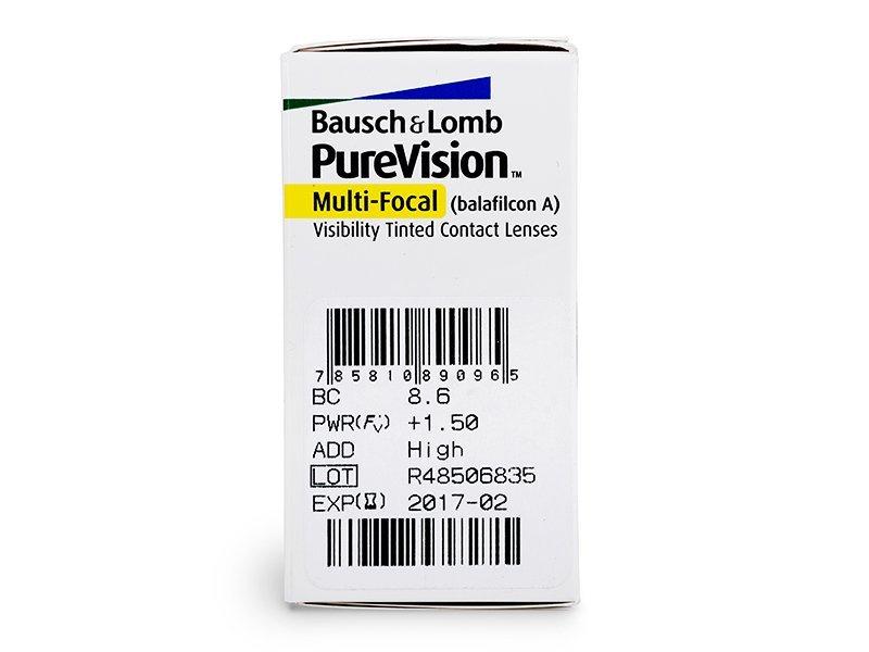 PureVision Multi-Focal (6čoček) - Náhled parametrů čoček