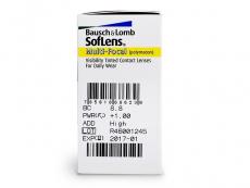 SofLens Multi-Focal (6čoček) - Náhled parametrů čoček