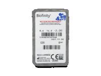 Biofinity (6čoček) - Vzhled blistru s čočkou