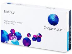 Biofinity (6čoček) - Měsíční kontaktní čočky