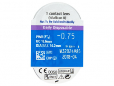 SofLens Daily Disposable (30čoček) - Vzhled blistru s čočkou