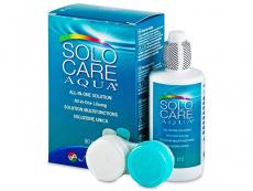 Roztoky na kontaktní čočky - čistící a dezinfekční oční roztoky - Roztok SoloCare Aqua 90ml