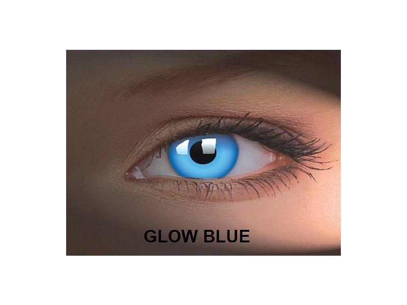 Crazy GLOW (2čočky) - Glow Blue