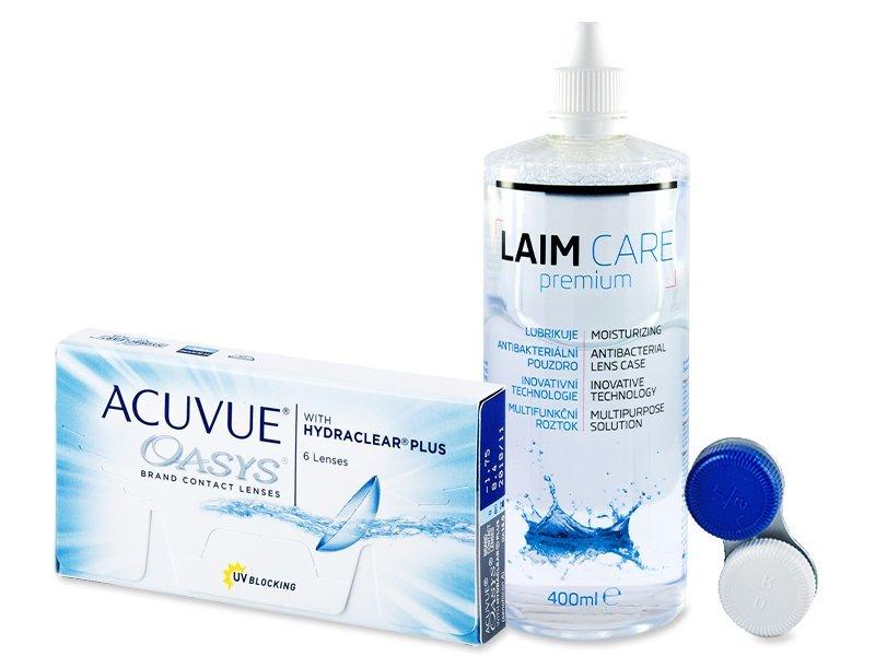 Acuvue Oasys (6čoček) +Laim Care400ml - Výhodný balíček