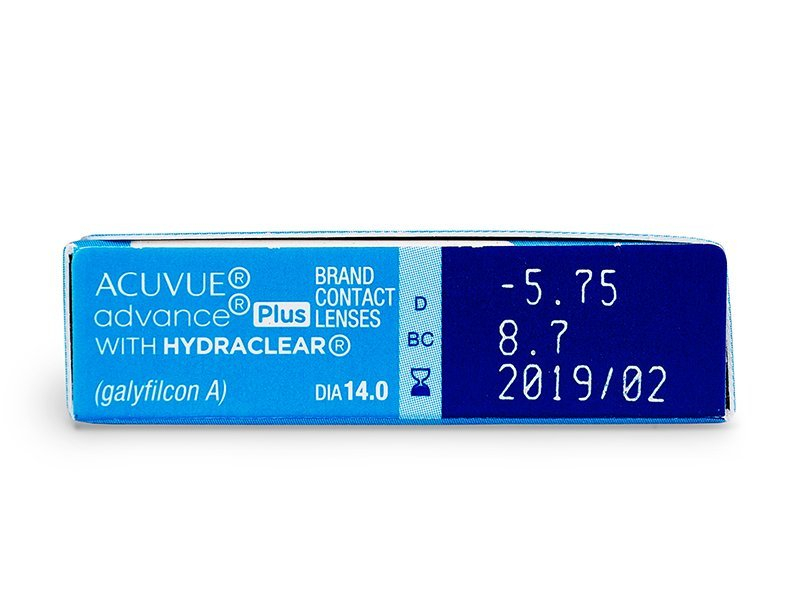 Acuvue Advance PLUS (6čoček) - Náhled parametrů čoček