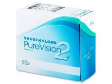 Měsíční levné kontaktní čočky - PureVision 2 (6čoček)