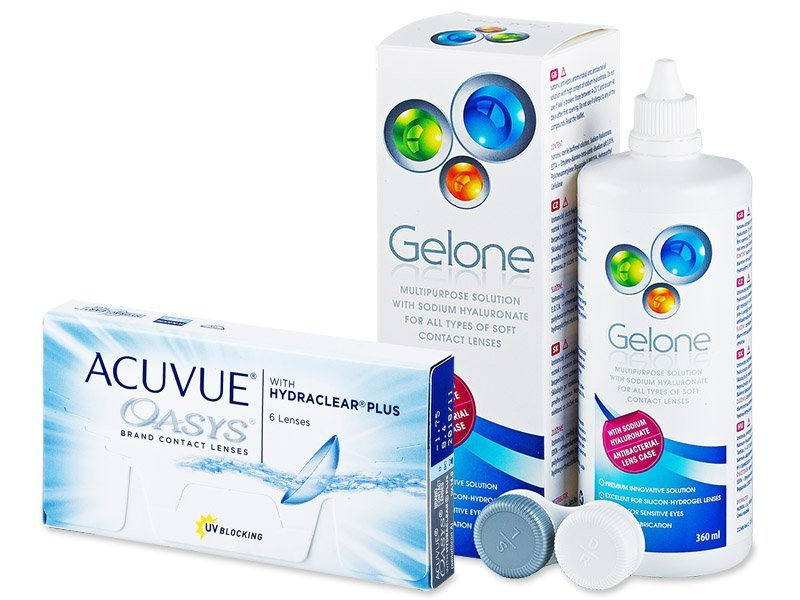 Acuvue Oasys (6čoček) +roztokGelone360ml - Výhodný balíček