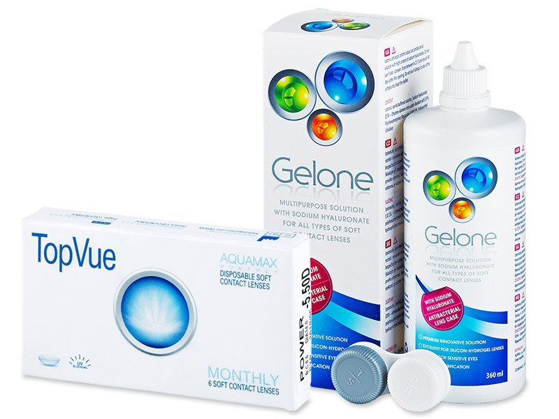 TopVue Monthly (6čoček) +roztokGelone360ml - Výhodný balíček