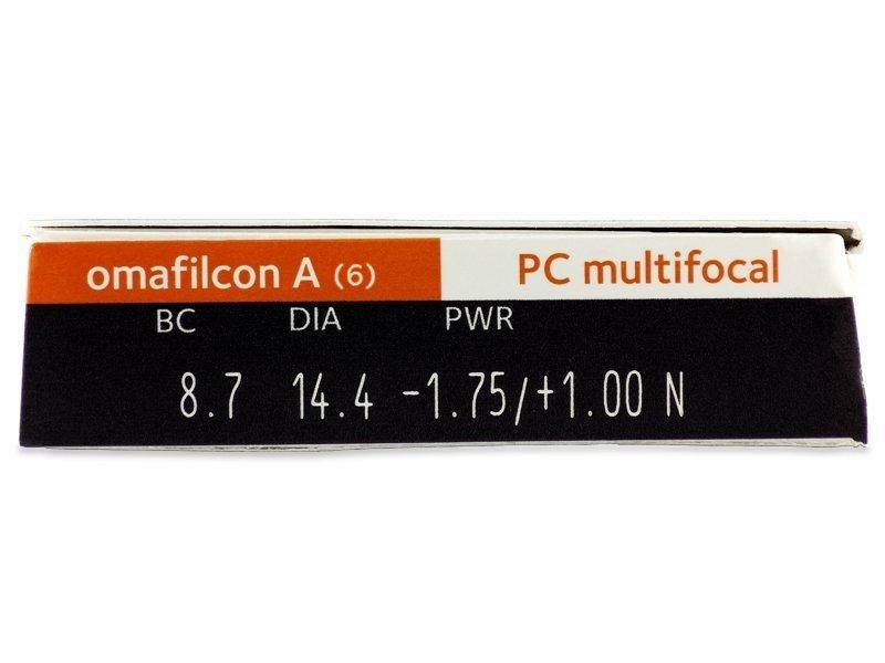 Proclear Multifocal (6čoček) - Náhled parametrů čoček